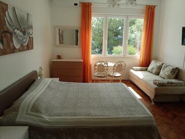 Mošćenička Draga, Spavaća soba u smještaju tipa room, dostupna klima i WiFi.