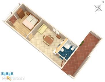 Zavalatica, План в размещении типа apartment, Домашние животные допускаются и WiFi.