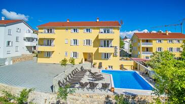 Baška, Krk, Property 18785 - Apartments with pebble beach.