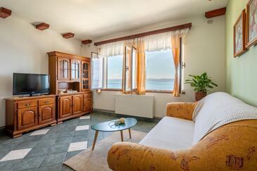 Prigradica, Obývací pokoj 1 v ubytování typu house, WiFi.