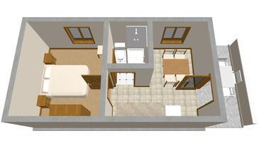 Zavalatica, Plan in the apartment, WIFI.
