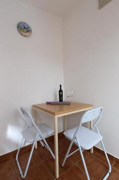 Stara Novalja, Dining room in the apartment, (pet friendly) and WiFi.