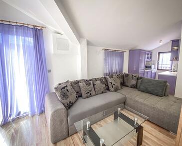 Mavarštica, Obývací pokoj v ubytování typu apartment, s klimatizací, domácí mazlíčci povoleni a WiFi.
