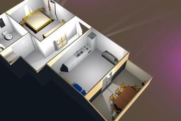 Vidalići, Proiect în unitate de cazare tip apartment, animale de companie sunt acceptate şi WiFi.