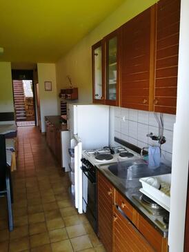 Duga Uvala, Kuchyně v ubytování typu studio-apartment.