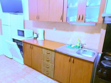 Vodice, Kuchyně v ubytování typu apartment, WiFi.