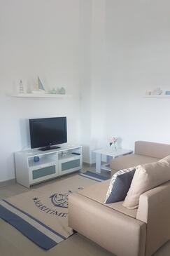 Jadrija, Living room in the apartment, air condition available.