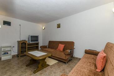 Rogoznica, Living room in the apartment, WiFi.