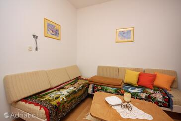 Supetarska Draga - Gonar, Obývací pokoj v ubytování typu apartment, WiFi.
