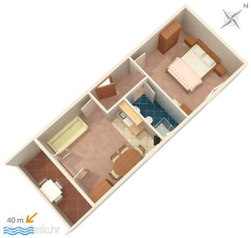 Banjol, Plan in the apartment, (pet friendly) and WiFi.