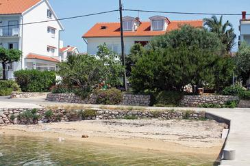 Barbat, Rab, Property 2014 - Apartments and Rooms near sea with pebble beach.