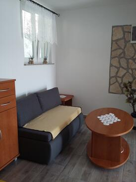 Supetarska Draga - Gornja, Sala de estar in the apartment, (pet friendly) y WiFi.