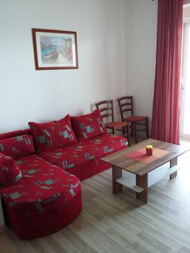 Supetarska Draga - Gornja, Sala de estar in the apartment, air condition available, (pet friendly) y WiFi.