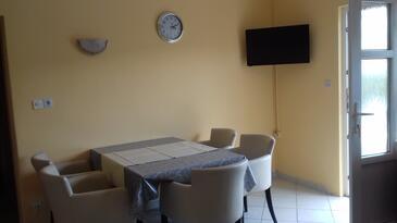 Supetarska Draga - Donja, Dining room in the apartment, WiFi.