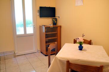 Supetarska Draga - Donja, Dining room in the apartment, dostupna klima i WIFI.