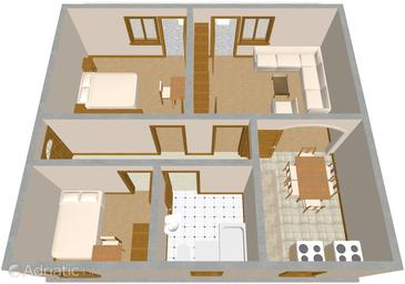 Marina, Plan in the apartment.