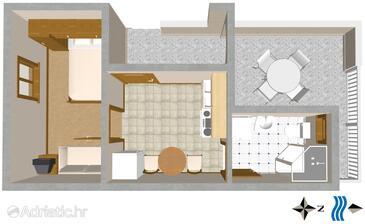 Slatine, План в размещении типа apartment, Домашние животные допускаются и WiFi.