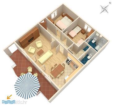 Poljica, Plan in the apartment, WIFI.