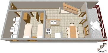 Seget Vranjica, Plan kwatery w zakwaterowaniu typu apartment, dopusteni kucni ljubimci i WIFI.
