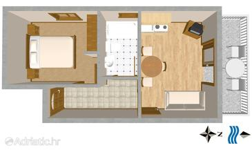 Mastrinka, План в размещении типа apartment, WiFi.
