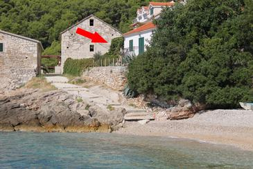 Tvrdni Dolac, Hvar, Property 2057 - Vacation Rentals near sea with pebble beach.