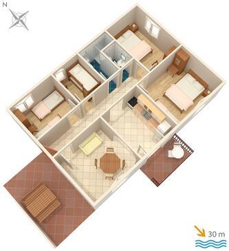 Tvrdni Dolac, Proiect în unitate de cazare tip house.