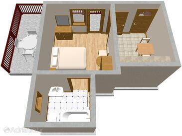 Jelsa, План в размещении типа apartment, Домашние животные допускаются и WiFi.