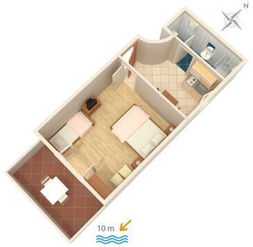 Zavala, Grundriss in folgender Unterkunftsart apartment, WiFi.
