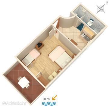 Zavala, Plan in the apartment, WiFi.