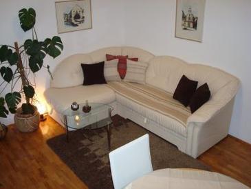 Hvar, Living room in the apartment.