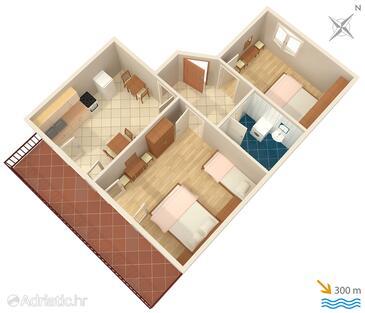 Jelsa, План в размещении типа apartment, Домашние животные допускаются.
