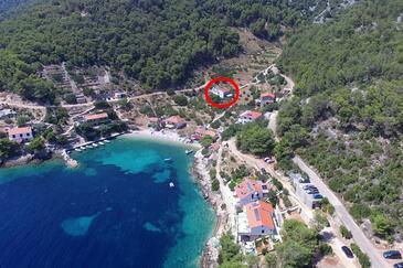 Torac, Hvar, Hébergement 2071 - Appartement à proximité de la mer avec une plage de galets.