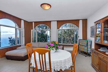 Uvala Pokrivenik, Dining room 1 in the apartment, dostupna klima i dopusteni kucni ljubimci.