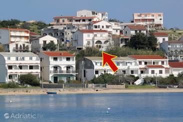 Metajna, Pag, Object 208 - Appartementen with sandy beach.