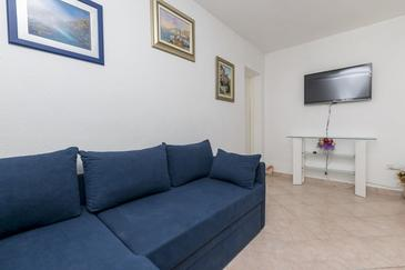 Rastići, Living room in the apartment, air condition available and WiFi.