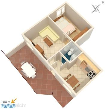 Rastići, План в размещении типа apartment, WiFi.