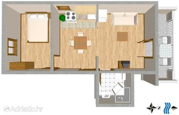 Mastrinka, Plan in the apartment, WiFi.