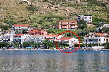 Metajna, Pag, Property 209 - Apartments near sea with sandy beach.