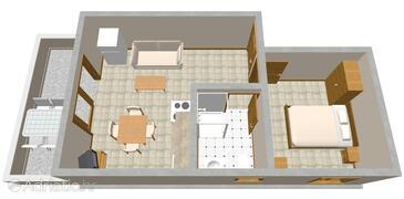 Zatoglav, Plan in the apartment, WIFI.