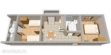 Ražanj, План в размещении типа apartment, WiFi.