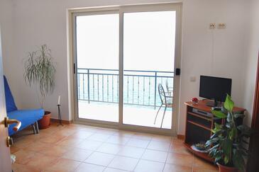 Okrug Donji, Living room in the apartment, dostupna klima i WIFI.