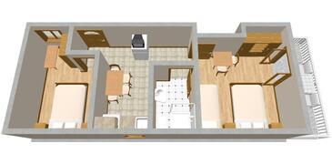 Zaton Mali, Plan in the apartment, WIFI.