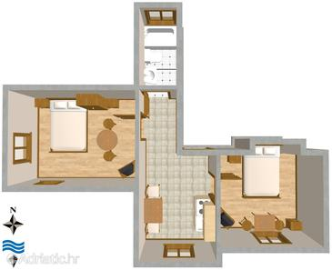 Split, Plan in the apartment.