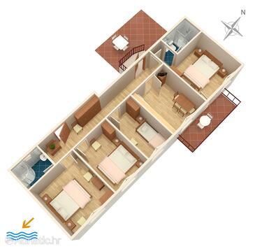 Zaton Veliki, Plan in the apartment, WIFI.