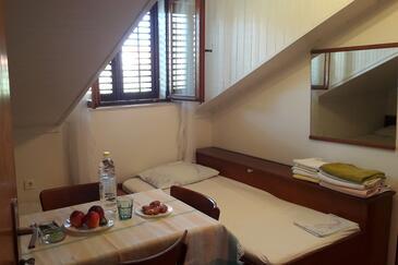 Cavtat, Jídelna v ubytování typu apartment, domácí mazlíčci povoleni a WiFi.