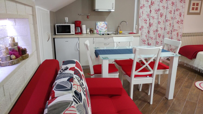 Appartement de vacances Studio Appartment im Ort Plat (Dubrovnik), Kapazität 2+1 (2077391), Plat, , Dalmatie, Croatie, image 4