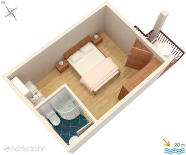 Molunat, План в размещении типа studio-apartment, WiFi.