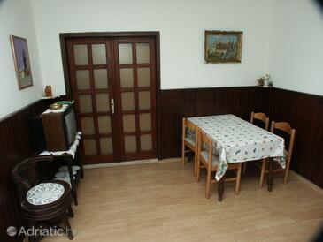 Molunat, Dining room in the apartment, dopusteni kucni ljubimci.
