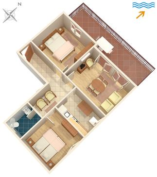 Dubrovnik, Plan in the apartment, dopusteni kucni ljubimci.