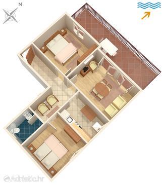 Dubrovnik, Půdorys v ubytování typu apartment, WiFi.